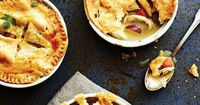 Sometimes you just want pure, homey comfort. Cooking Light has a recipe that hits all the flaky, creamy, potato-rich notes of the classic chicken pot pie but is much lighter in calories and sodium....