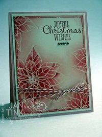 Stampin' Up! Joyful Christmas Card - Another Class Card - Stamps, Paper, Scissors