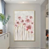 Abstract floral paintings on canvas impression art palette knife flower framed Wall Art Pictures contemporary art acrylic cuadros abstractos $99.00