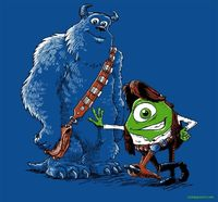 Monsters Inc + Star Wars and many other tshirts, a new one every day for $10 at RIPT Apparel