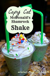 This time of year McDonald's offers a Shamrock shake that is REALLY good! The Shamrock Shake was first introduced in 1970, and was really popular in the 90's. I