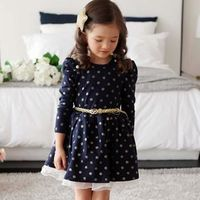 popular style girls dress Dot Lace Party Birthday $19.84