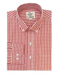 Red Gingham Regular Fit Button Down Shirt �'�999.00