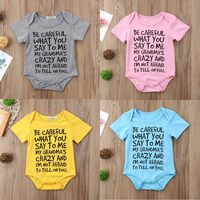mmabay Unisex Short Sleeve Baby Jumpsuits Baby Boy Girl Toddler Grandma Romper Jumpsuit Clothes Outfit US $2.80
