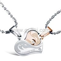 Personalized 2 Heart Interlocking Couples Necklaces Set https://www.gullei.com/personalized-2-heart-interlocking-couples-necklaces.html