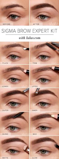 The ticket to a complete beauty look comes with expertly-shaped brows, and the Sigma Brow Expert Kit is our definite go-to!