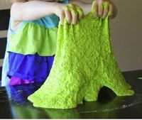 This Non-Toxic Neon Slime has a cool texture, and it's easy to make.