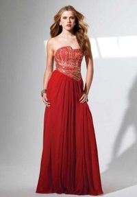 2014 Discount Red Sequins Top Long Prom Dresses