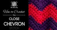 For written instructions and photos please visit: http://newstitchaday.com/how-to-crochet-the-close-chevron-stitch/ This video crochet tutorial will help you learn how to crochet the close chevron stitch. This stitch creates a fun two colored chevron patt...