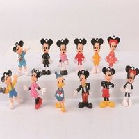 Really cute Cartoon character figures, set of 12 ..tiny , so not suitable for very young children but also make good cake decorations or imaginative play figures