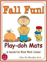 Your students will love these fall themed playdoh mats that will help them learn vocabulary and develop their fine motor skills!