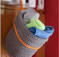 Hanging Crochet Basket |