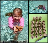 """Floating Cork Numbers �€"""" a FUN Number Recognition & Math Game. A FUN Bath time activity too!!"""