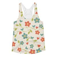 """Exclusively from And Above All YOGA --- """"Fresh Flowers"""" Women's Racerback Tank Top for just $29.95 with FREE SHIPPING"""
