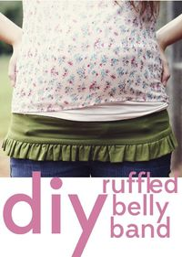 belly + baby // ruffled belly band tutorial