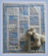 """A Gift from Heaven"" (simple heirloom baby quilt - could be made in any colour scheme for boys or girls)"