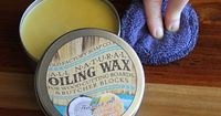 Natural Cutting Board Seasoning Wax Tin. Ever wonder why your cutting board doesn't look like the pictures? Well, that is probably because you've forgotten to oil it! Keep your cutting board healthy with our combination of organic coconut oil, bee...