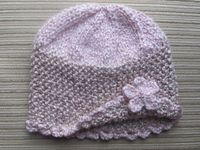 Number 100 KNITTING PATTERN Spring Hat with a Flower for a Girl 3-6 Months, 3-6 Years. $2.80, via Etsy.