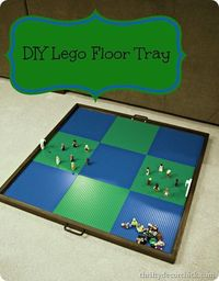 Everyone who has a child + lego's needs one of these! DIY lego tray for the floor by