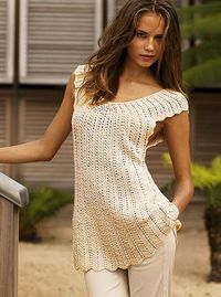Beautiful Tunic - Free Crochet Diagram - (unicettodoro.blogspot)