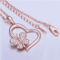 Heart Rose Gold Necklace $9.95.