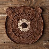 Bear With Me Dishcloth by Emily Guise Free Pattern