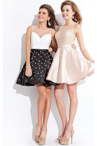 Appealing Sweetheart Sweetheart,Jewel Sleeveless Short Cocktail Dresses