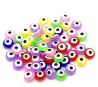 Pack of 300 Assorted Colours Evil Eye Talisman Spacer Beads. Protection Charms. 7mm x 5mm. £7.69