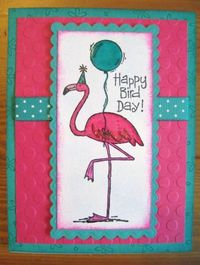 """Happy Bird Day for Friend - use the """"Tickled Pink"""" set by Stampin' Up!"""