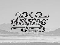 Some custom lettering for the Skydog Jewelry logo project.