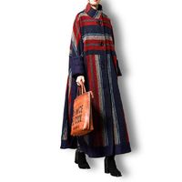 Winter Plaid Wool Coat, Cashmere Coat, Women Coat, Plus Size Clothing, Long Coat, Winter Clothing