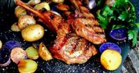 Herb & Spice Grilled Lamb Chops with Roasted Peruvian Potatoes . A Bachelor & His Grill