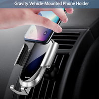 Baseus Tempered Glass Surface Gravity Linkage Auto Lock Car Holder Stand for iPhone Xiaomi Mobile Phone