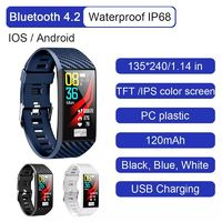 Bakeey ECG Heart Rate Monitor Multi-sport Modes USB Charging IP68 bluetooth 4.2 Smart Watch