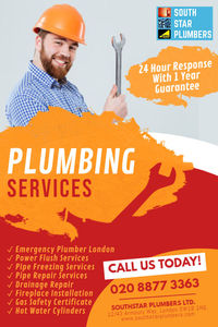 Southstar Plumbers We are Skilled in all types of Plumbing & Heating, Gas Safety Certificate, Fireplace Installation & Drain Repairs across London.  https://www.southstarplumbers.com/