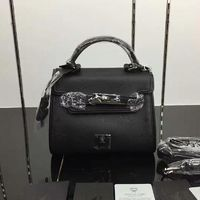 MCM Mini Ketty Visetos Satchel In Black