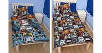 Character World NEW OFFICIAL STAR WARS FORCE SINGLE DUVET REVERSIBLE QUILT COVER KIDS BOYS ROTARY BEDDING SET REVERS !!!ANOTHER GREAT ITEM FROM ALECTRO TOYS!!!Duvet Cover size: 135cm x 200cm (53in x 78in)Pillowcase size: 48cm x 74cm (19in x 29...