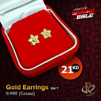 #ValentineSpecialSale � Make a good first impression by wearing this amazing pair of gold Earrings. �–� Product type: Gold Earrings  �–� Price: 21KD �–� Weight: 0.900 Grams �–� Free Delivery  �–� Karat: 18 Karat  �...