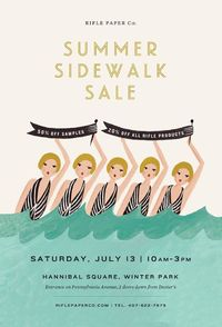 Rifle Paper Summer Sidewalk Sale. Love the #illustration!
