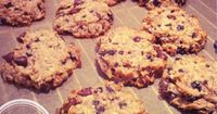 Oat, coconut and cacao cookies (flourless, vegan, sugar-free, grain-free, gluten-free)