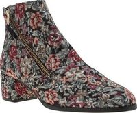 Red Or Dead Multi Patsy Parker Womens Boots Ladies, allow us to introduce you to the Patsy Parker from Red or Dead. The fabric ankle boot is adorned in multi-coloured vintage floral embroidery, with an asymmetric zipper fastening and 5cm heel c http://www...