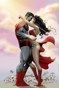 Superman and Wonder Woman by Mike Deodato Jr and Gustavo Piacentini