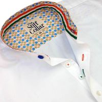 India Formal White Satin Mandarin Collar Cotton Shirt �'�1499.00