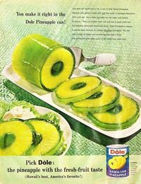 Amazing with black cherry or tropical punch jello..... Mmmmmm!!! Drain juice from a can of Sliced Pineapple, replace with jello made with 1/2 of the water required on pkg. Chill until set. Run hot water on can sides & bottom to loosen. Cut bottom from...