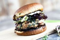 spinach and feta grilled turkey burgers: recipe here