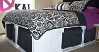 Platform Storage Bed from Knock Off Decor. This site features DIY furniture and home decor ideas inspired by well known stores.