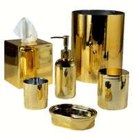 Nova Gold Bath Accessories by Mike + Ally $60.00