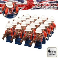 British Soldiers Anglo-Zulu 1879 War 20-Pack + Weapons $49.90