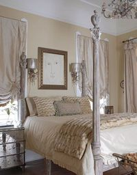 Makes me wanna paint my bedframe!! French Style - Karyl Pierce Paxton - New Orleans Cottage - House Beautiful