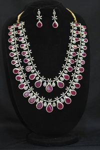 Diamond finish two layer necklace $477.00